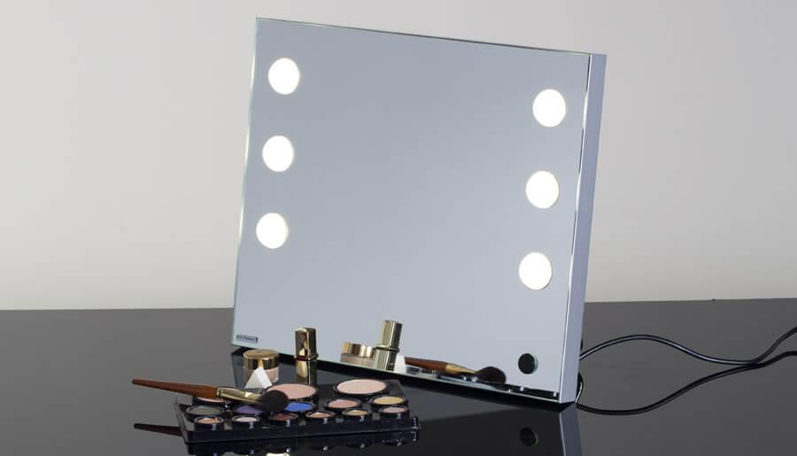 specchio illuminato portatile con 6 luci neutre per trucco