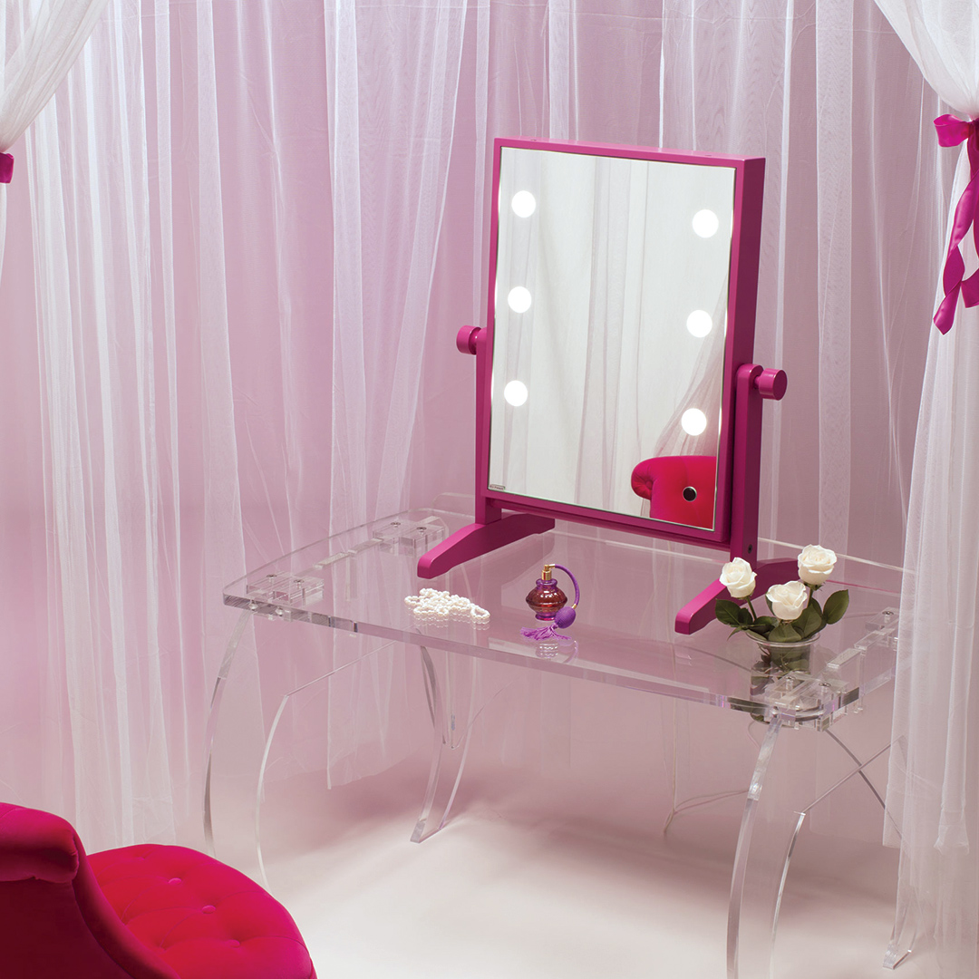 lighted table mirror with natural light for makeup and beauty offers and promotions