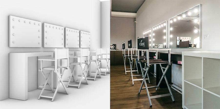 specchi illuminati e progetti arredo centri estetici